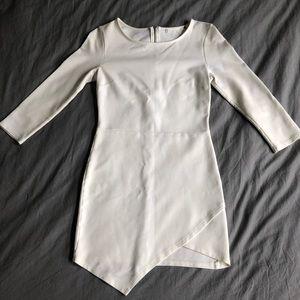 white asymmetrical dress